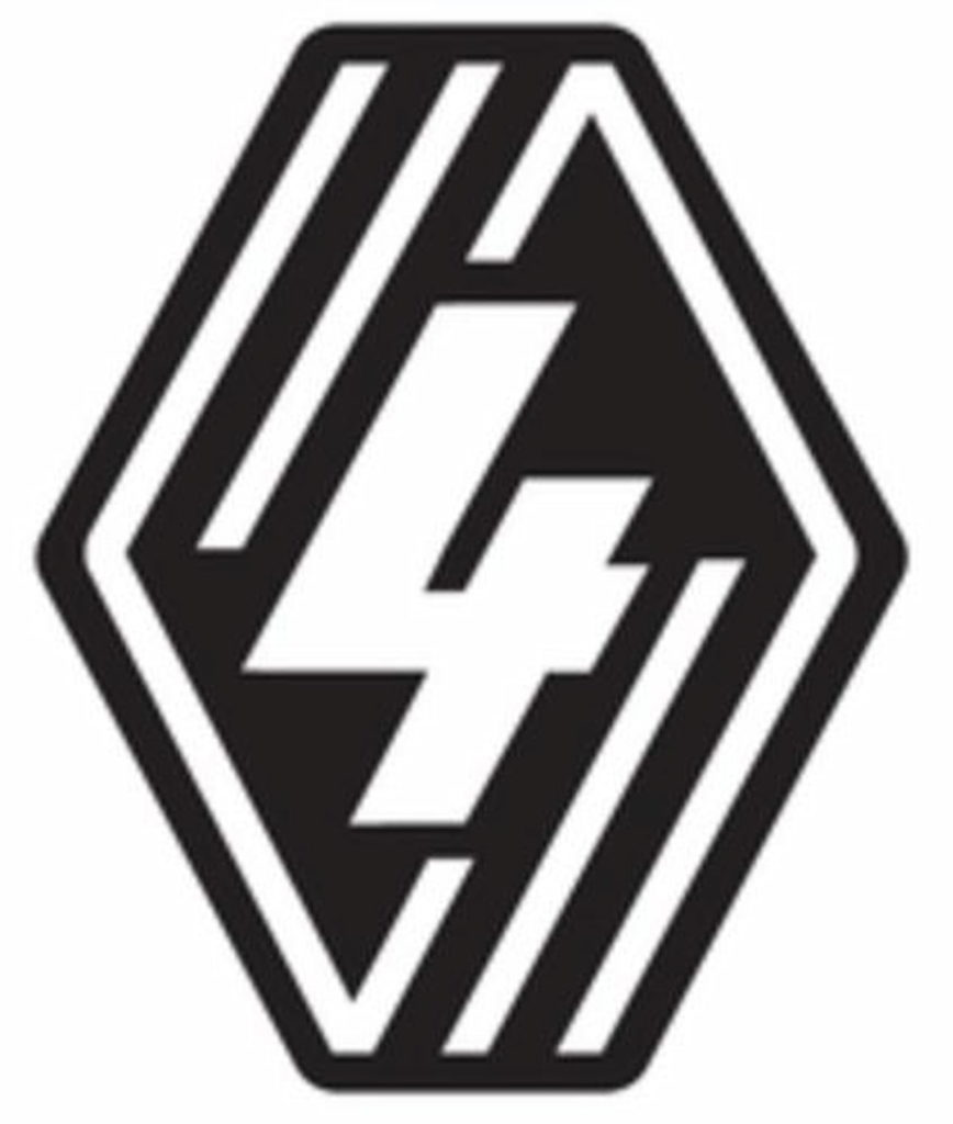 All new Renault 4 electric logo