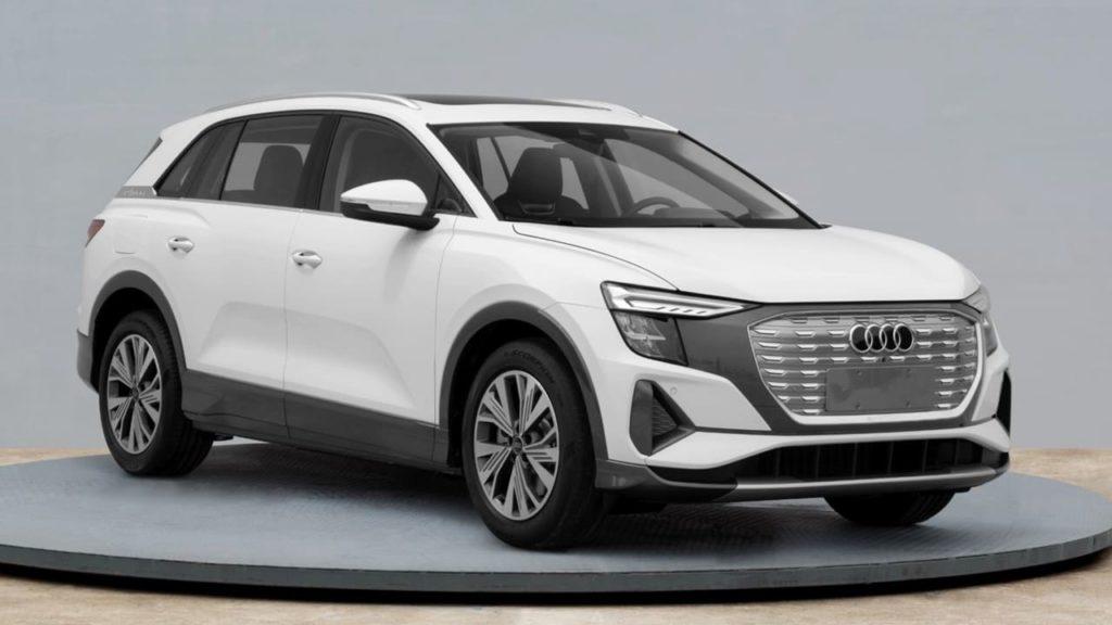 Audi Q5 e-tron front three quarters leaked image