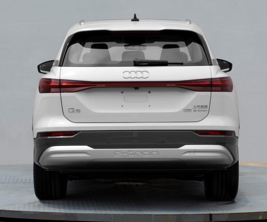Audi Q5 e-tron rear leaked image