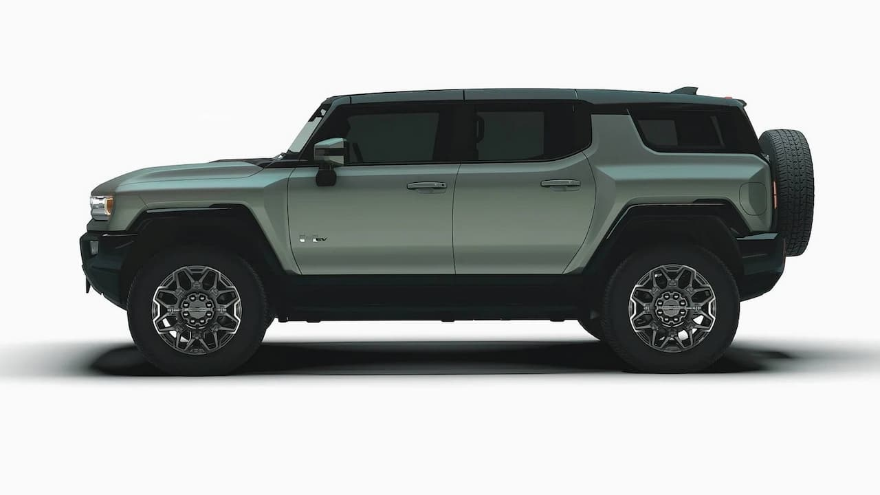Electric Hummer SUV side