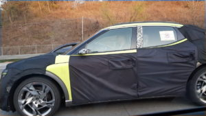 Genesis GV60 JW lime green side spy picture