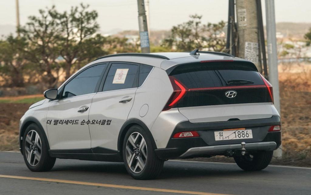Hyundai Bayon rear three quarters live image
