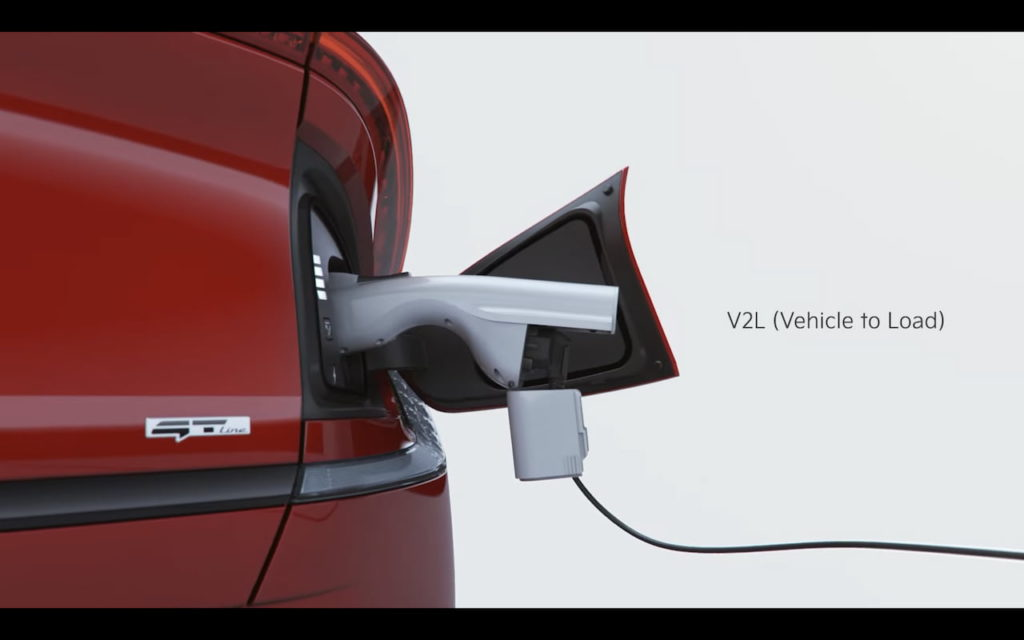 Kia EV6 charging port location