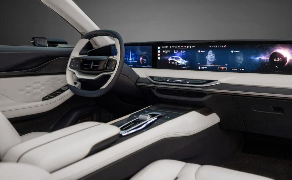 Lincoln Zephyr Reflection concept interior dashboard