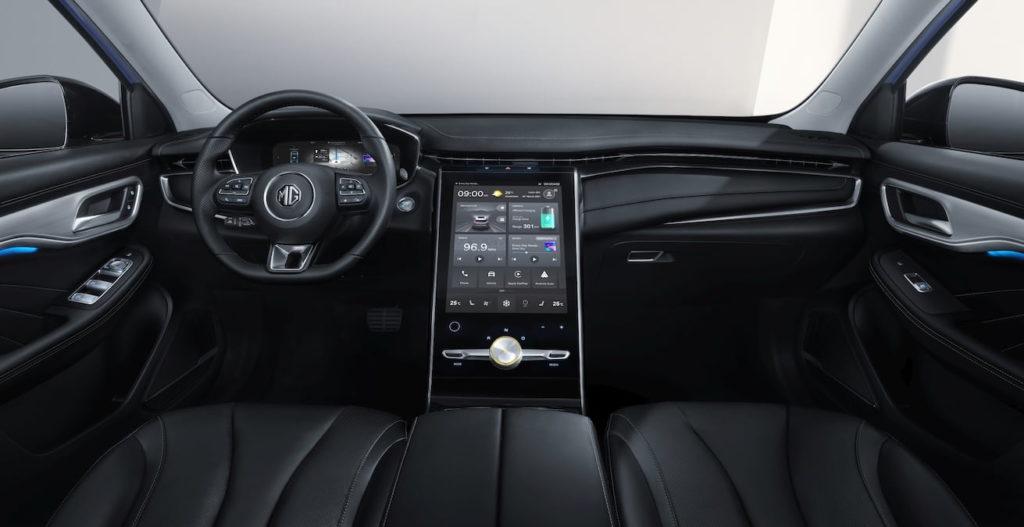 MG Marvel R interior dashboard