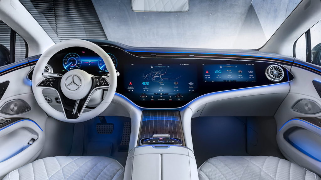 EQS' MBUX Hyperscreen expected to be available in the Mercedes EQE SUV