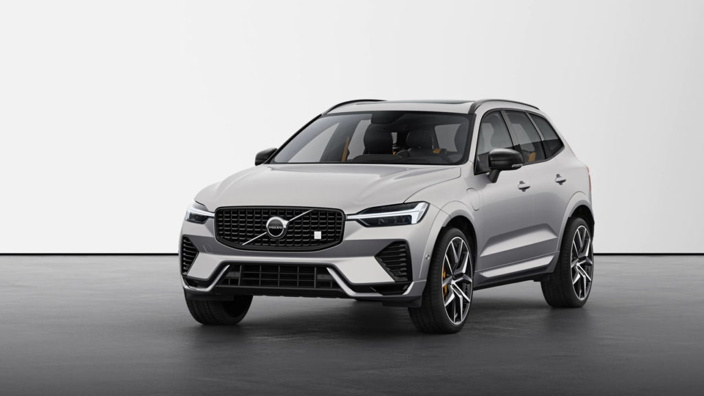 New Volvo XC60 2022 Polestar Engineered Silver Dawn front quarters
