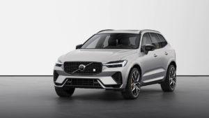 New Volvo XC60 2022 Polestar Engineered Silver Dawn front quarters
