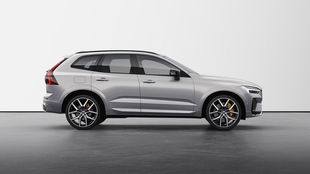 New Volvo XC60 2022 Polestar Engineered Silver Dawn profile side
