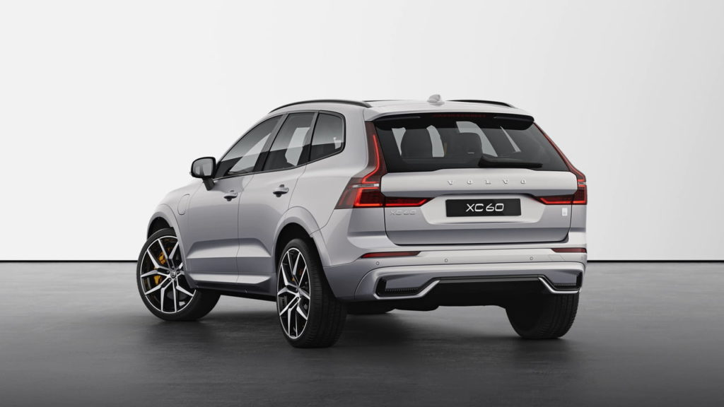 New Volvo XC60 2022 Polestar Engineered Silver Dawn rear quarters