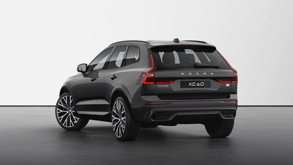 New Volvo XC60 2022 R-Design Platinum Grey rear quarters