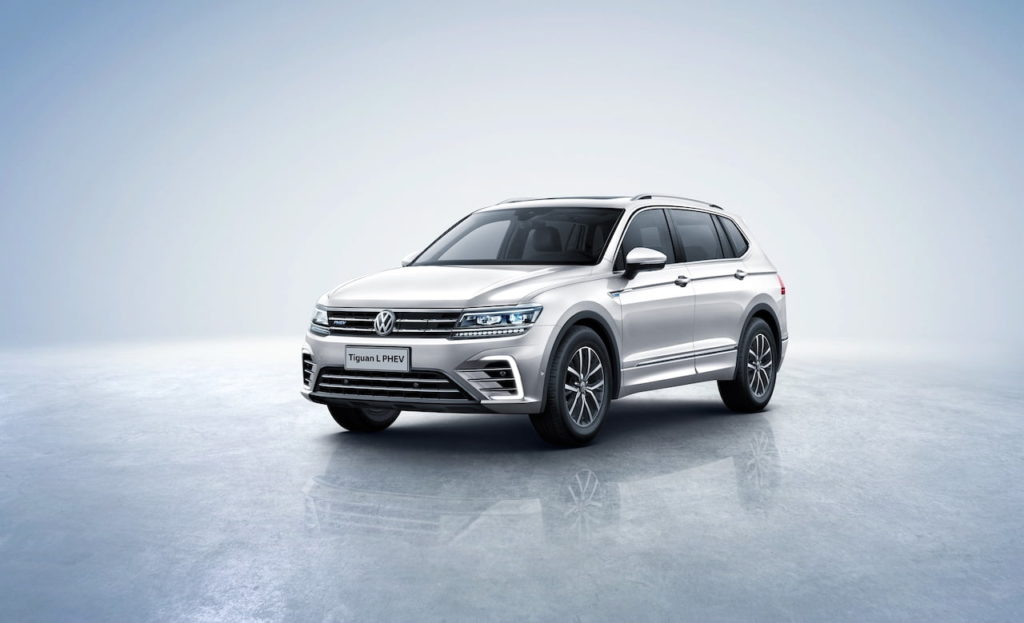Old VW Tiguan Allspace PHEV front three quarters