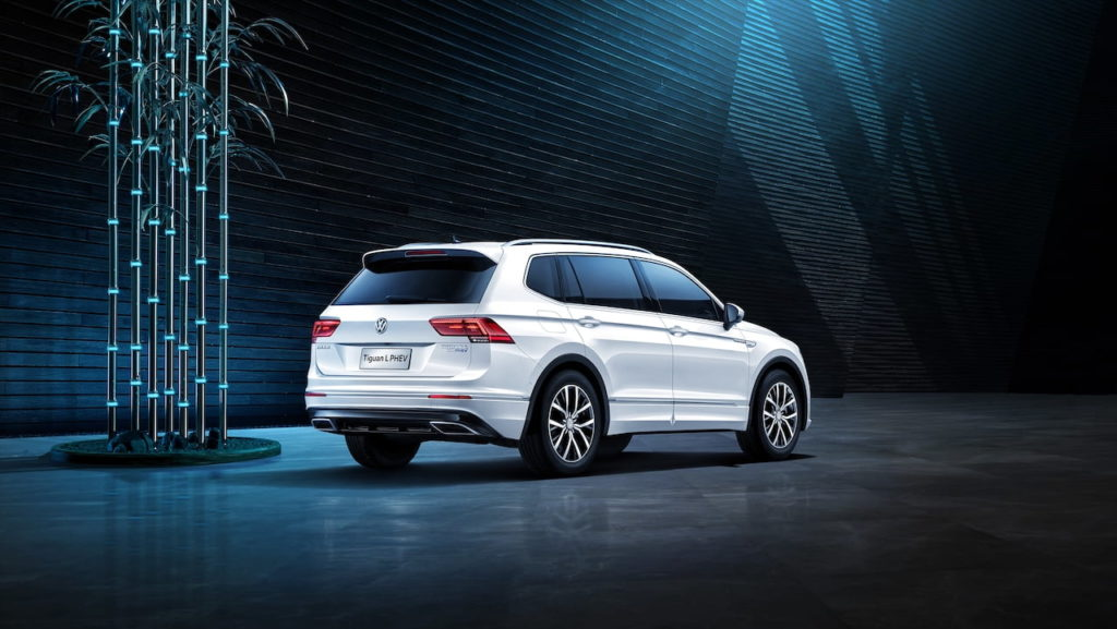 Old VW Tiguan Allspace PHEV rear three quarters