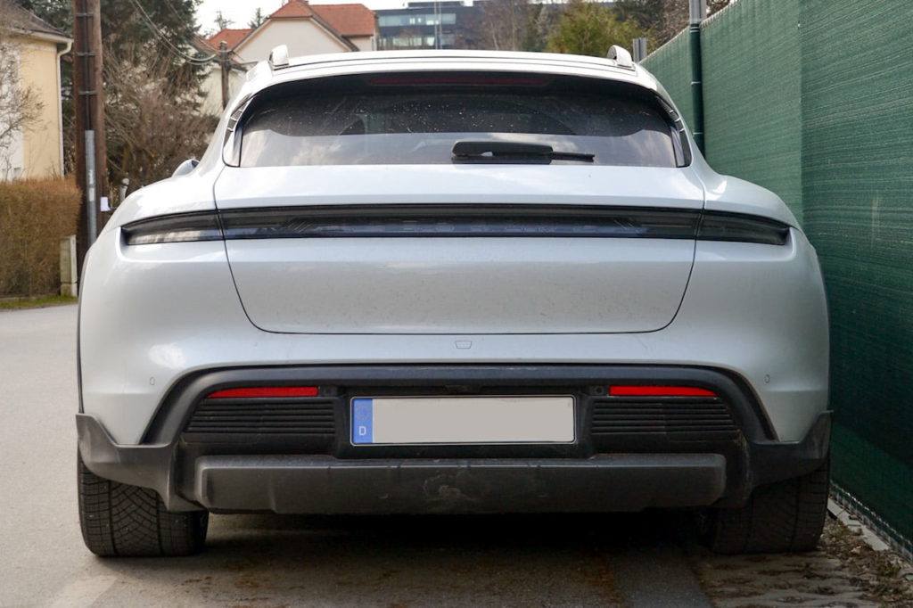 Porsche Taycan Cross Turismo rear low live