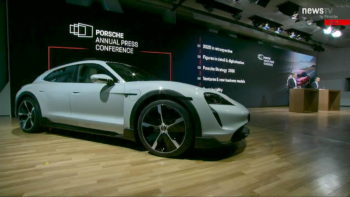 Porsche displays Taycan Cross Turismo at annual press conference