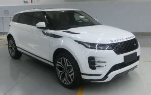 Range Rover Evoque long wheelbase front quarters leaked image