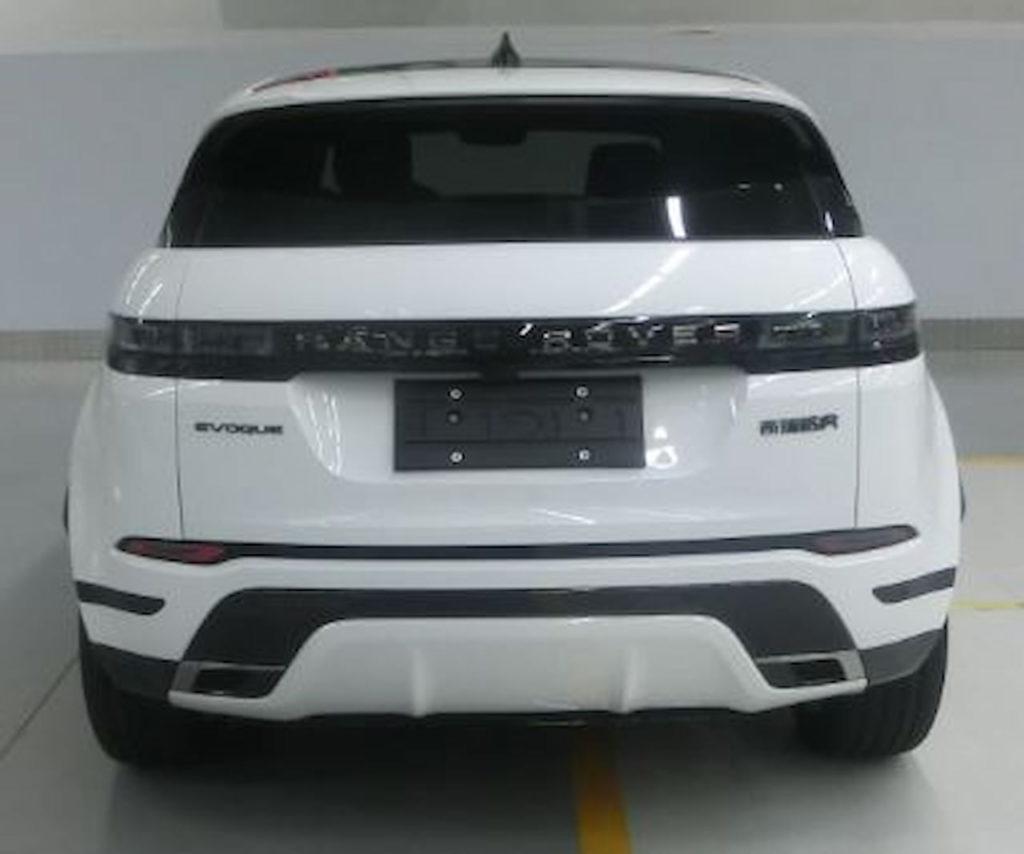 Range Rover Evoque long wheelbase rear leaked image