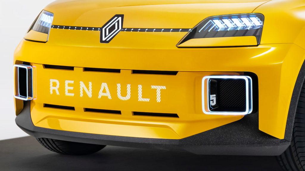 Renault 5 electric concept front fascia