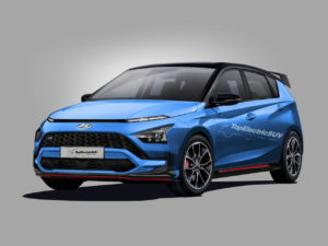 Render of the Hyundai Bayon N Line