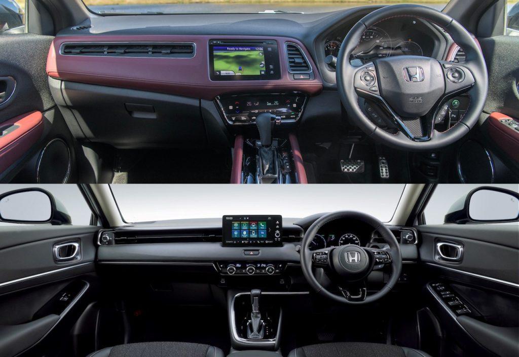 2021 Honda HR-V vs. 2020 Honda HR-V interior dashboard (Europe)
