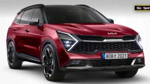 2022 Kia Sportage front three quarters rendering