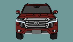 2022 Toyota Land Cruiser front fascia render ((Toyota Land Cruiser J300 front)