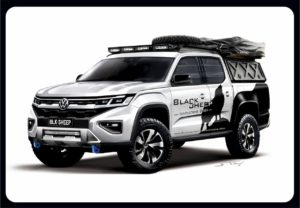 2022 VW Amarok modified front three quarters rendering