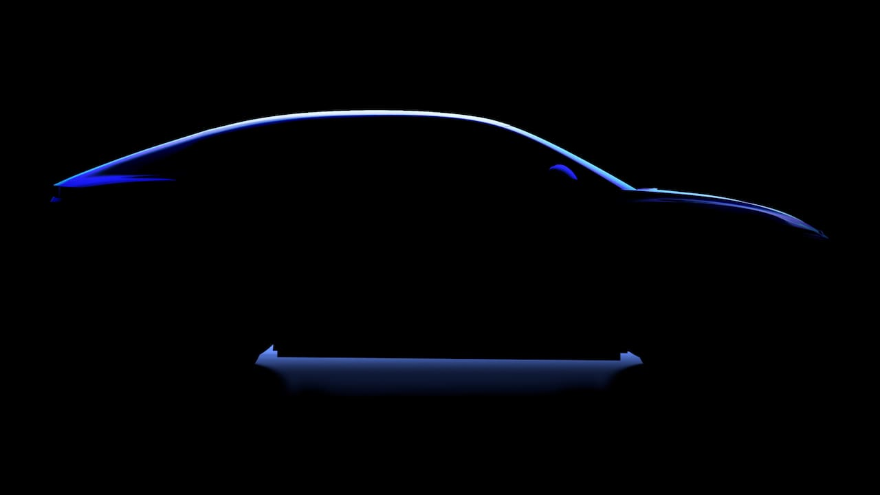 Alpine SUV coupe side profile teaser