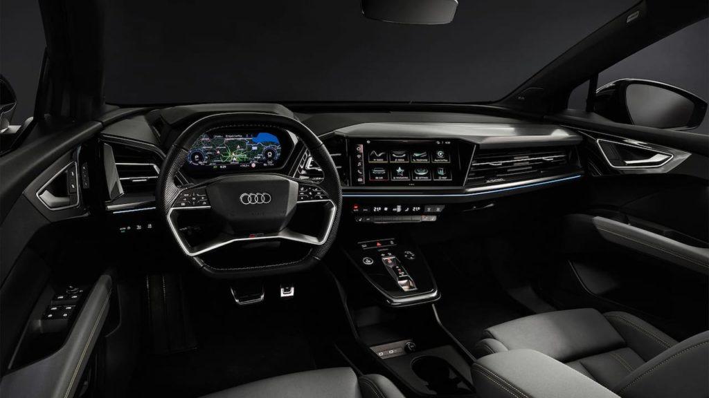 Audi Q4 Sportback e-tron interior dashboard