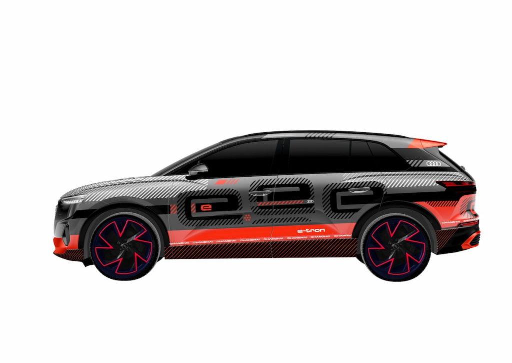 Audi concept Shanghai side profile