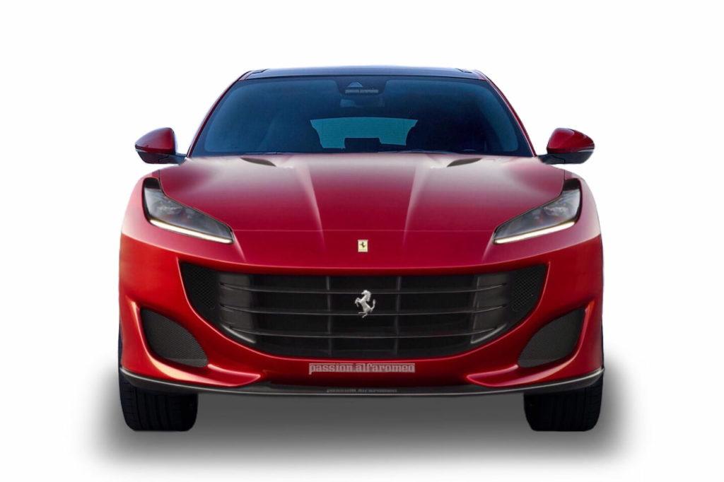 Ferrari Purosangue FUV front rendering