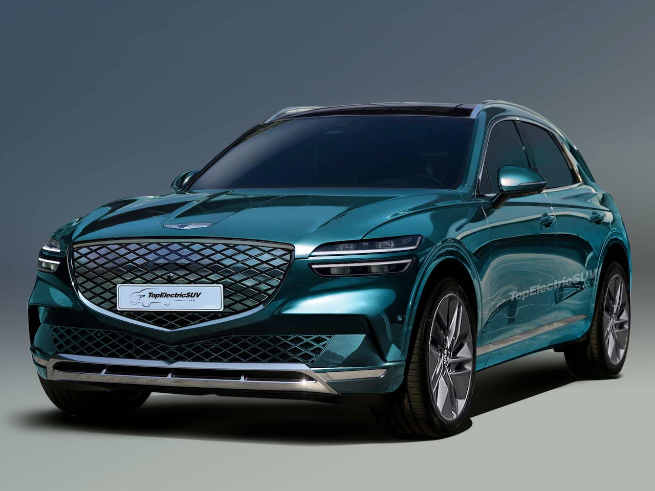Genesis GV70e or GV70 Electric front rendering