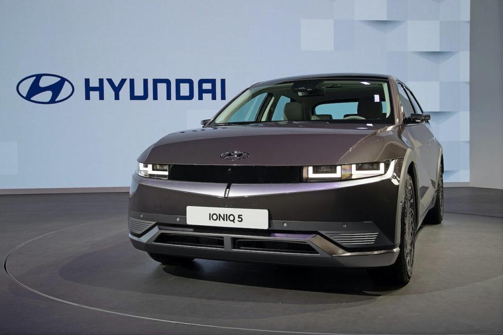 Hyundai Ioniq 5 front three quarters