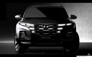Hyundai Santa Cruz truck front design render