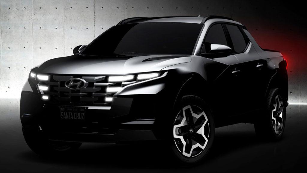 Hyundai Santa Cruz teased front