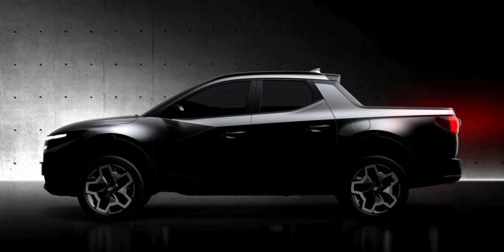 Hyundai Santa Cruz teased side