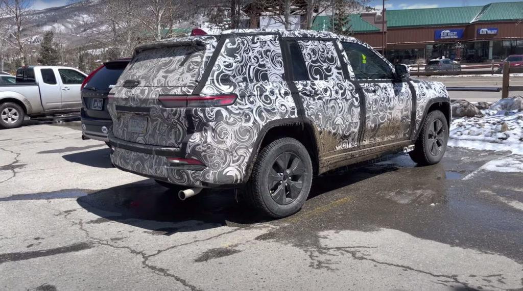 Jeep Grand Cherokee 4xe rear three quarters spy shot