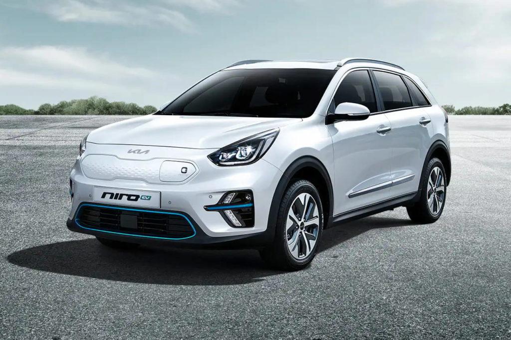 Korean-spec 2021 Kia Niro EV front three quarters