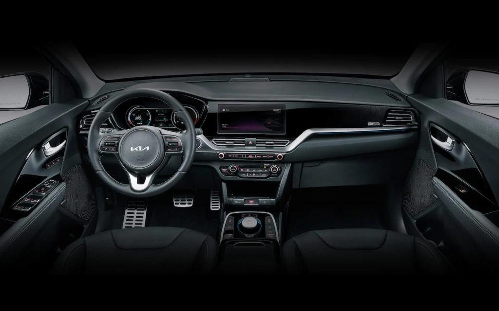 Korean-spec 2021 Kia Niro EV interior dashboard