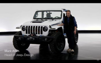 "Design boss ""teases"" production Jeep Wrangler electric"
