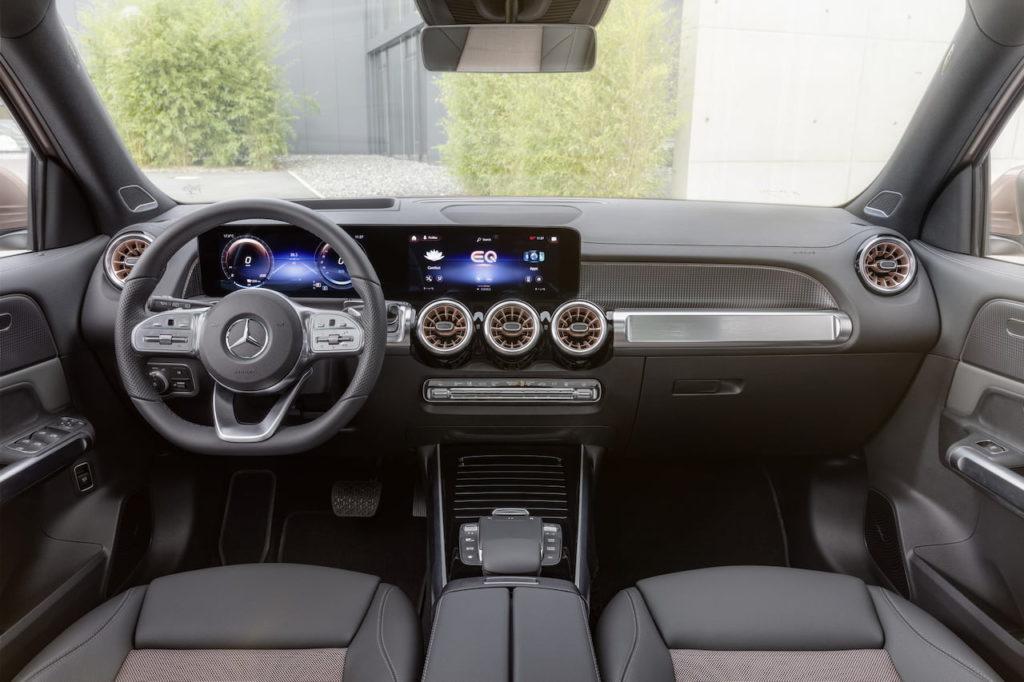 Mercedes EQB interior dashboard