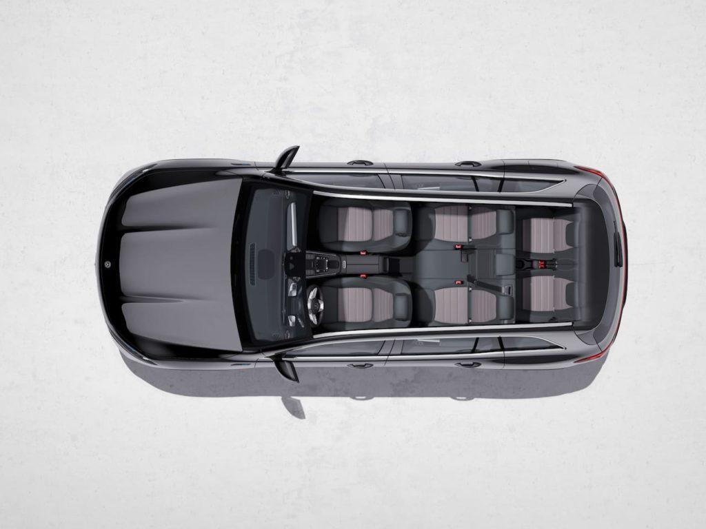 Mercedes EQB seating layout