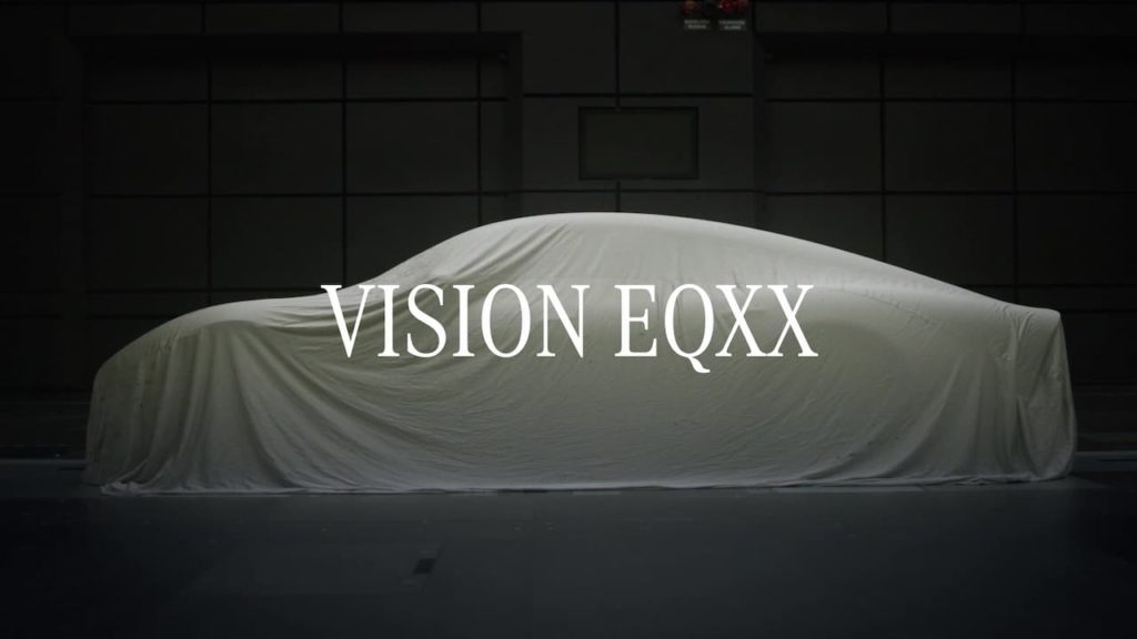 Mercedes Vision EQXX side view teaser 2021