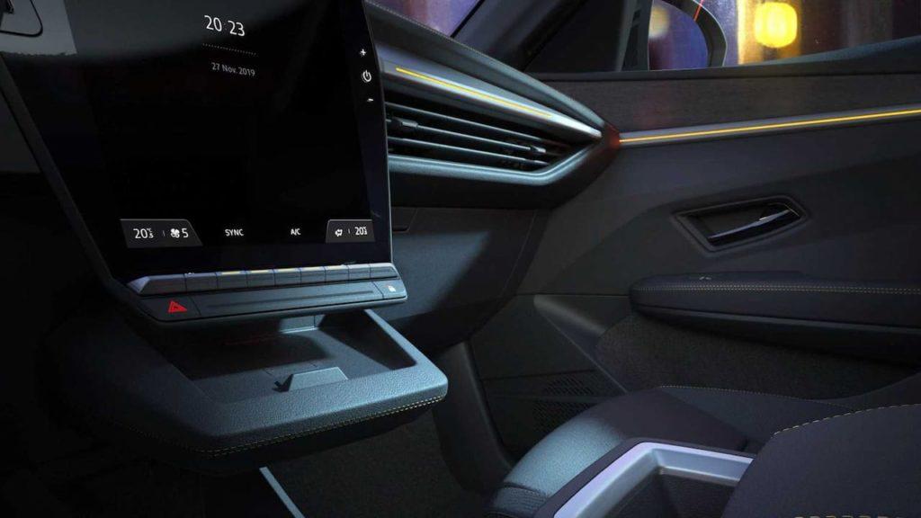 Next-gen Renault Megane E-Tech Electric interior teaser