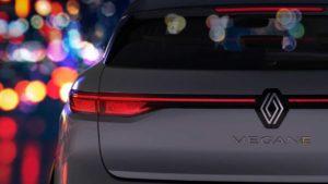 Next-gen Renault Megane E-Tech Electric rear teaser