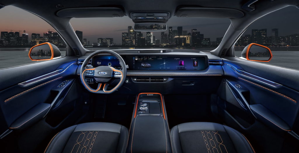 Production Ford Evos interior