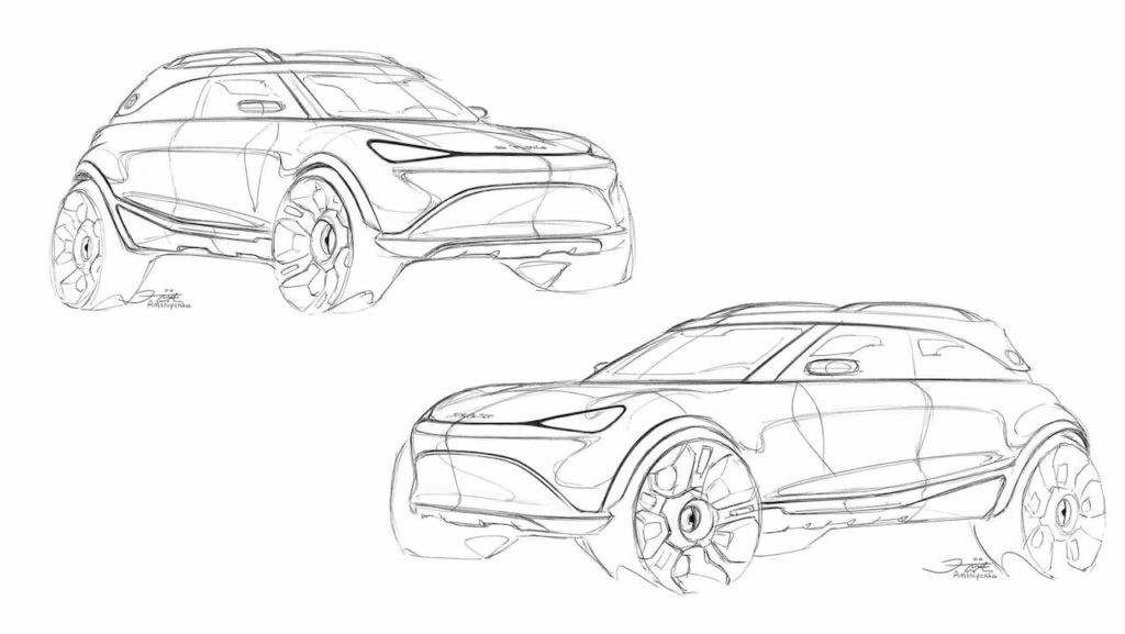 Smart Electric SUV sketches official