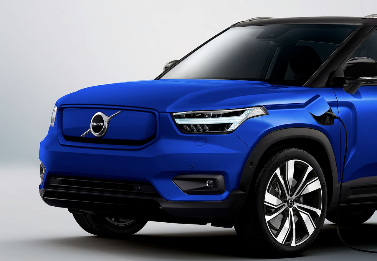Upcoming Volvo electric car face render