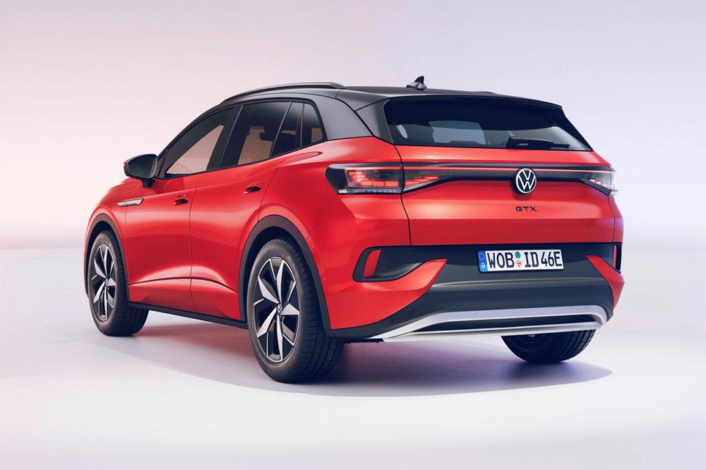 VW ID.4 GTX rear three quarters
