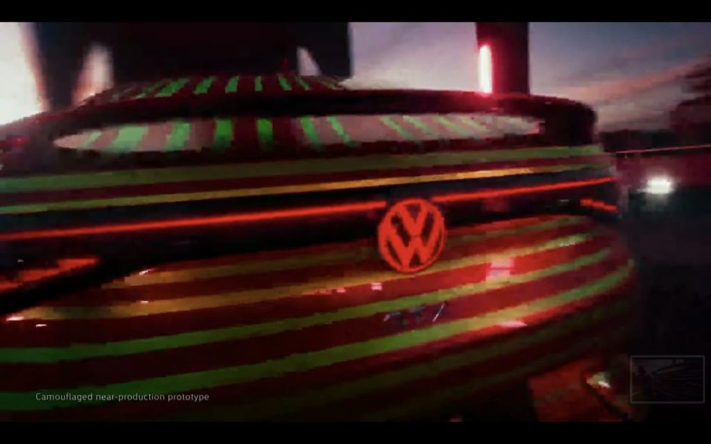 VW ID.5 badge and spoiler teaser